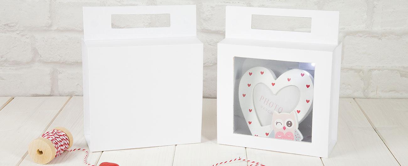 scatole per bomboniere con finestra trasparente